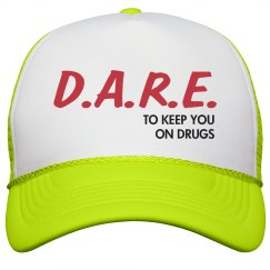 Drugs Are Fun Neon Hat