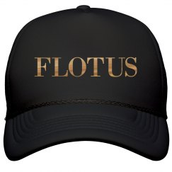 Black FLOTUS Cap With Metallic Text