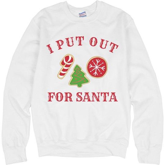 I Put Out Cookies For Santa Unisex Ultimate Cotton Crewneck Sweatshirt