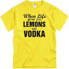 Add Vodka To Lemons