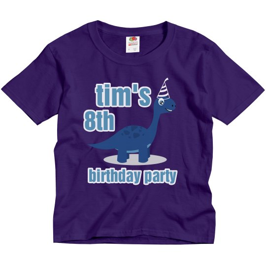 Tims 8th Birthday Party Youth Basic T Shirt