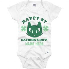 Custom St. Catrick's Day Onesie
