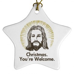 Jesus Christmas Ornament