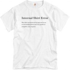 500 Internal Shirt Error