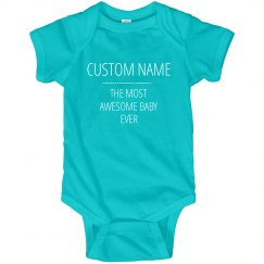 Custom Name Funny Baby Onesies