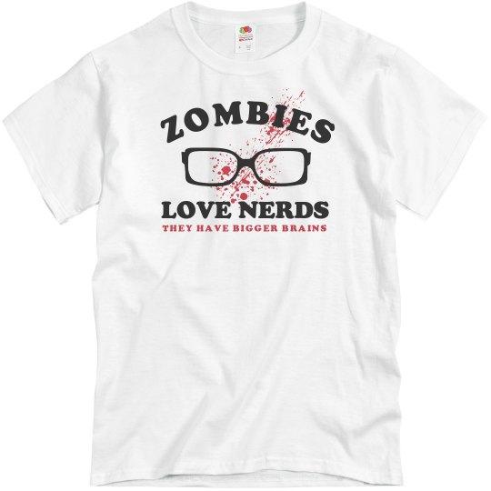 e06a292de Zombies Love Nerds Unisex Basic Promo T-Shirt