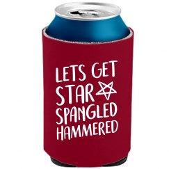 Star Spangled Hammered Koozie