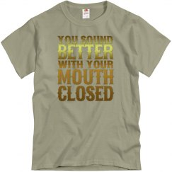 Mouth Closed Adult Unisex Basic Tee