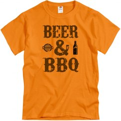 Beer and BBQ Adult Unisex Basic Tee