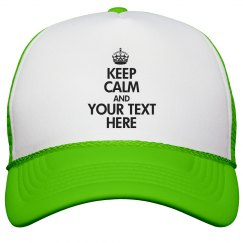 Keep Calm Neon Hat