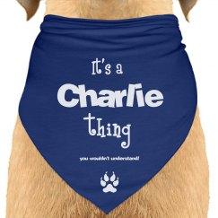 it's a Charlie thing dog bandana