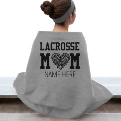 Custom Lacrosse Mom Blanket