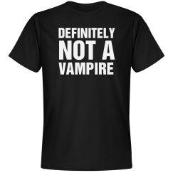Not A Vampire Shirt Costume