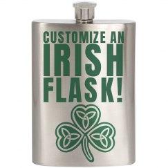 Custom St Patricks Flasks