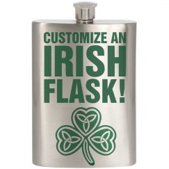Custom St Patricks Flasks