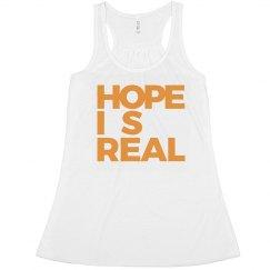 HOPE IS REAL RACERBACK TANK