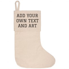 Custom Trendy Canvas Stocking