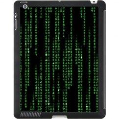 Green Coded iPad Case