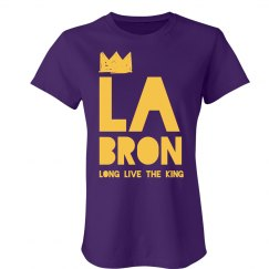 LA Bron Los Angeles Sign King