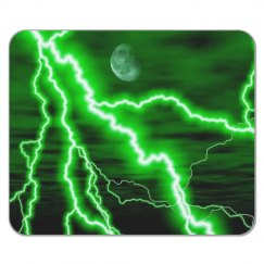 Green Lightning Mousepad
