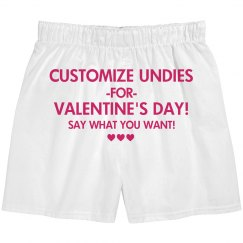 Custom Valentines Undies