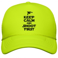 Keep Calm Shoot First Hat