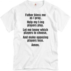 Fantasy Football Prayer