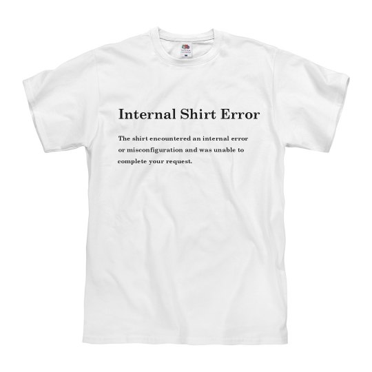 500 Internal Shirt Error