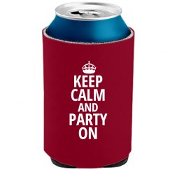 Party Calm Koozie