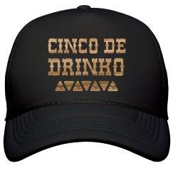 Cinco De Drinko Metallic Hat