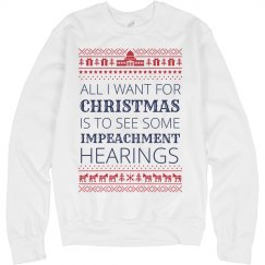 Impeachment Hearings Wish Ugly Sweater