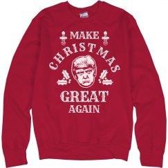 f93e09cd Unisex Basic Promo Crewneck Sweatshirt · Make Christmas Great Again Sweater