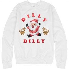 Metallic Dilly Dilly Santa Sweatshirt