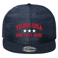 Team USA Custom Text Hat