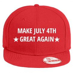Patriotic Make July 4th Great Again Hat