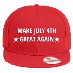Patriotic Make July 4th Great Again Hat