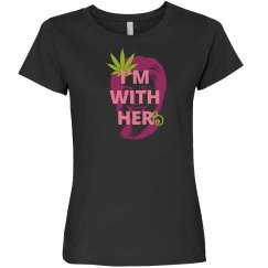 I'm with herb (ladie's variation darkshirt/pink)