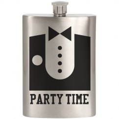 Tux Party Flask