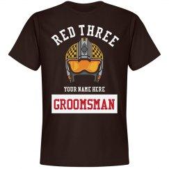 Groomsman Red Three