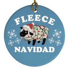 Xmas Fleece Navidad Ornament