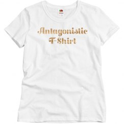 Gold Metallic Antagonistic T-Shirt