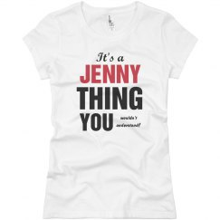 It's a Jenny thing