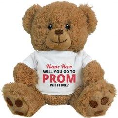 Promposal Custom Name Gift Bear
