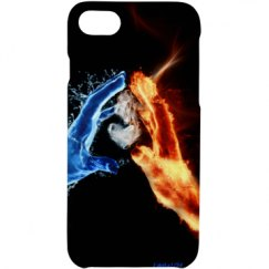 Fire/Ice Hand iPhone Case