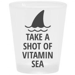 Vitamin Sea Shark Shot Glass