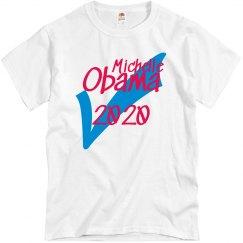 Michelle Obama 2020 ✔️ Comfy Blue T-shirt
