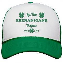 Let The Shenanigans Begins St Patricks Hat
