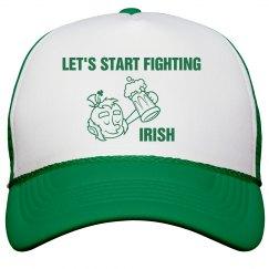 Let's Start Fighting Irish St Patricks Hat