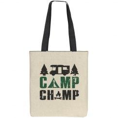 Camp Champ Canvas Tote Bag