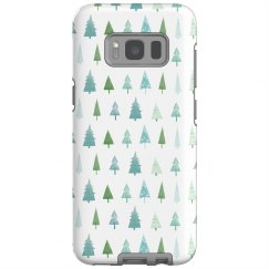 Festive Tree Print Galaxy Case